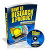 Thumbnail How To Research A Product Video Tutorials with MRR